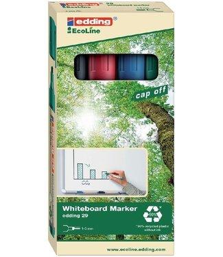 Edding Edding 29 Ecoline Whiteboard Marker Assortiment (1,5-5 mm schuin)