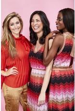 M Missoni Kleed M Missoni zigzag rood/roze/goud