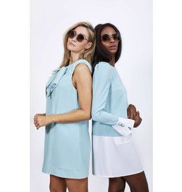 Kleed E. Franchi mint/wit + knopen