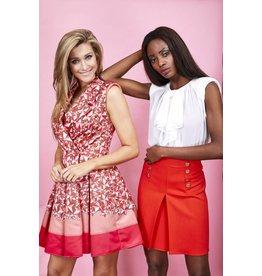 Kleed E. Franchi rood/roze sterrenprint