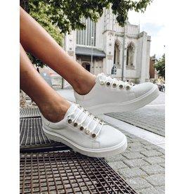Sneakers SVNTY wit suède dikke zool