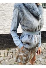 Gilet Patizia Pepe faux fur l. blauw