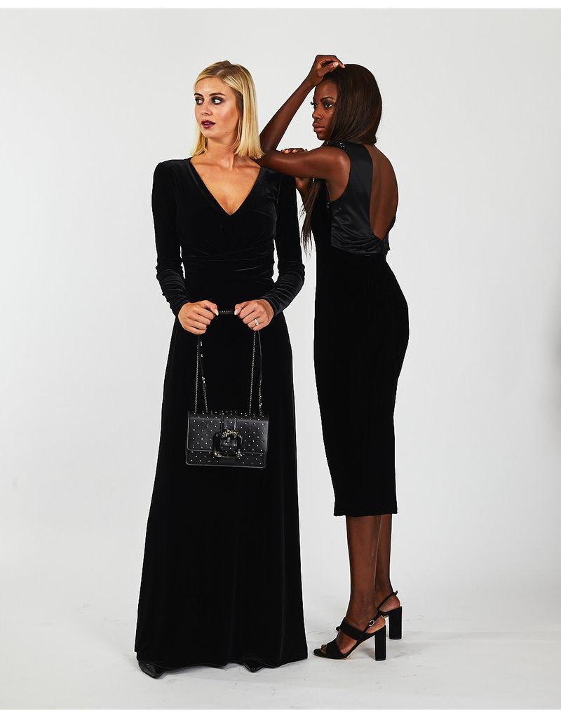 Emporio Armani Lang kleed E. Armani zwart fluweel