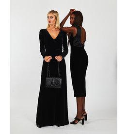 Emporio Armani Kleed Emporio Armani zwart fluweel + strass