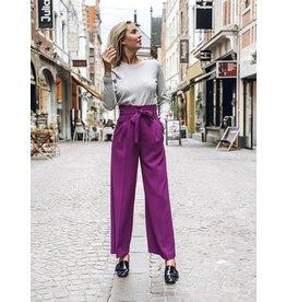 Tara Jarmon Broek Tara Jarmon violet brede pijpen