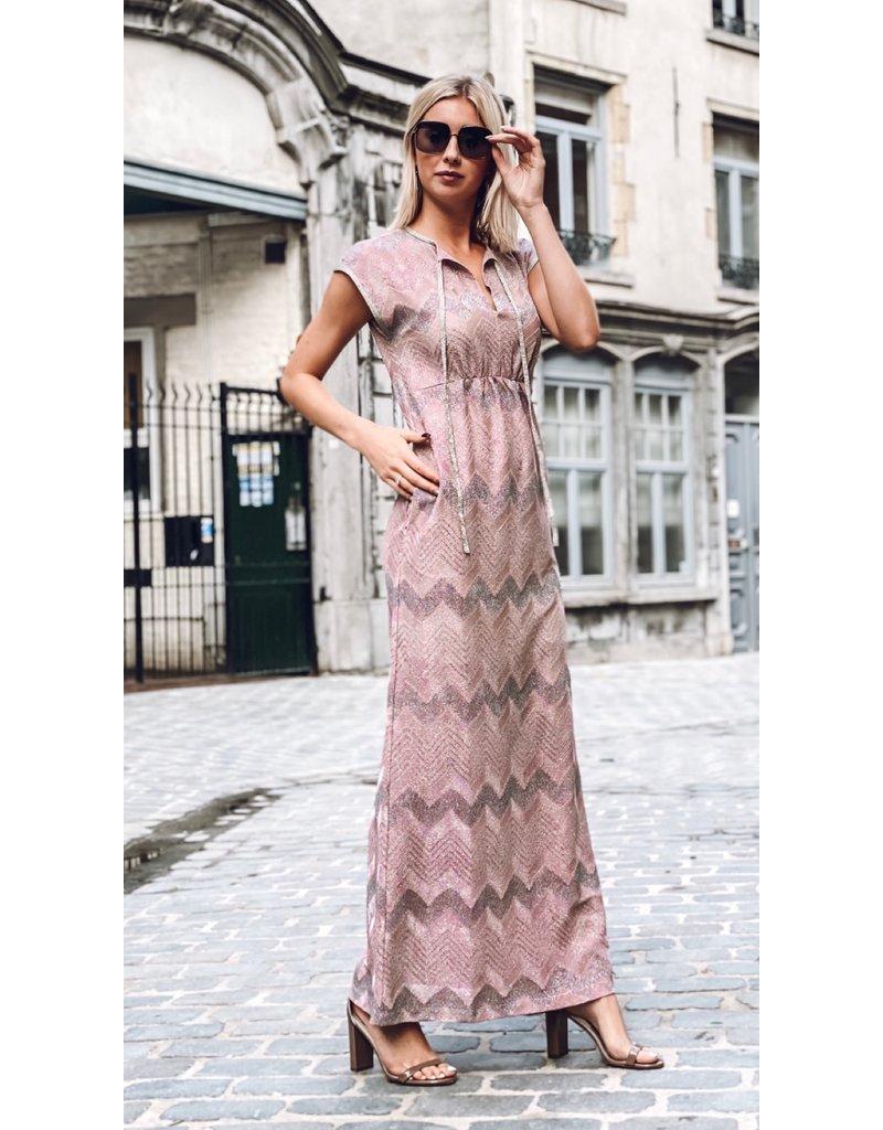 M Missoni Lang kleed M Missoni roze lurex