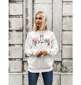 M Missoni Sweater M Missoni écru + logo