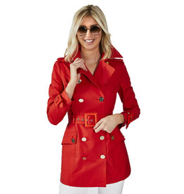 Trench Elisabetta Franchi rood