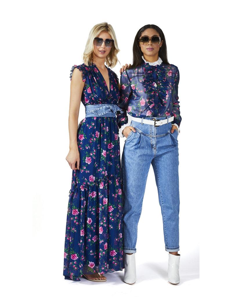 Philosophy Bloes Philosophy jeansblauw bloem