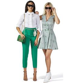 Kleed E. Franchi wit/groen
