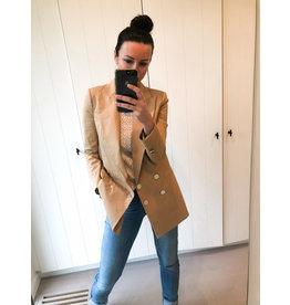 Lange blazer Elisabetta Franchi camel