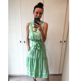 Kleed Elisabetta Franchi groen/wit streep
