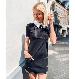 Kleed E. Franchi jersey zwart + witte kraag