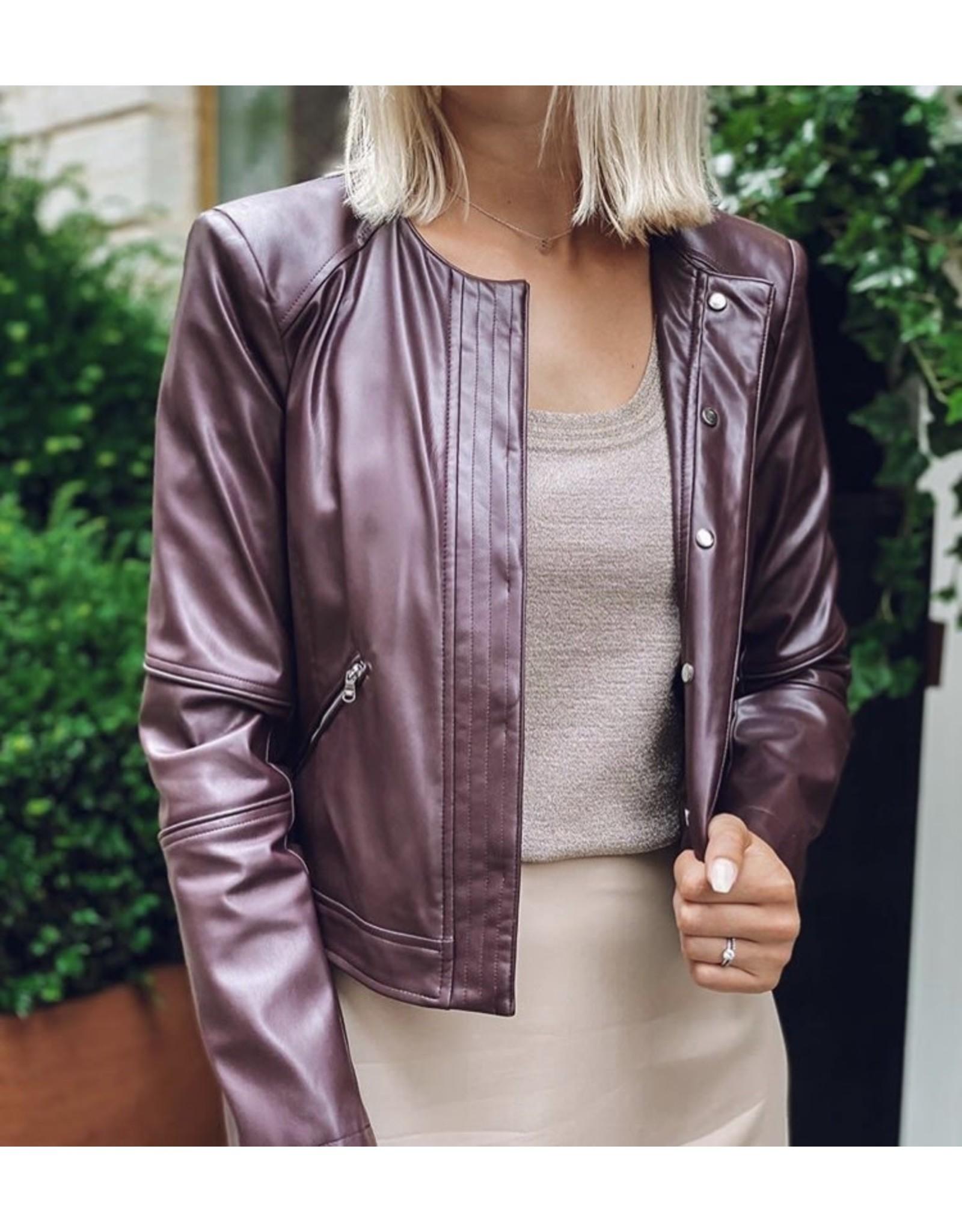 Vest P. Pepe faux leather bordeaux