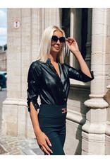 Body E. Franchi zwart vegan leather