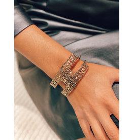Armband E. Franchi logo goud
