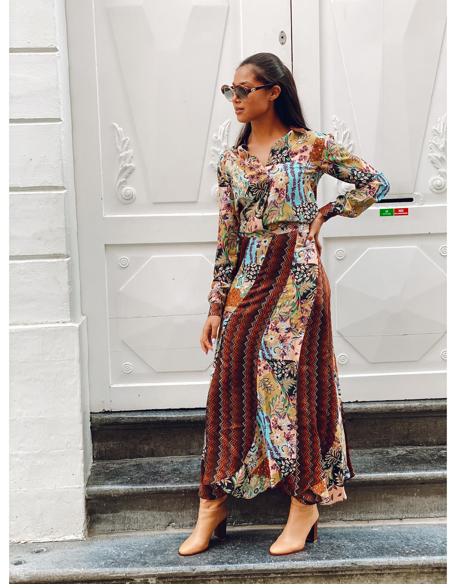 M Missoni Lange rok M Missoni print multicolor