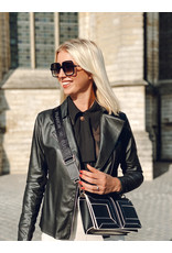 Crossbody-tas Elisabetta Franchi zwart/wit