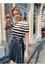 Rok E. Franchi zwart plissé + parels