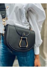 Crossbody-bag E. Franchi zwart + riem