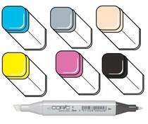 Copic marker's; kleuren B16-C4-E21-Y08-RV09-100