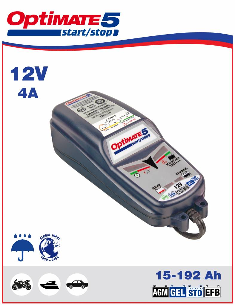 Battery Charger start/stop 12-V