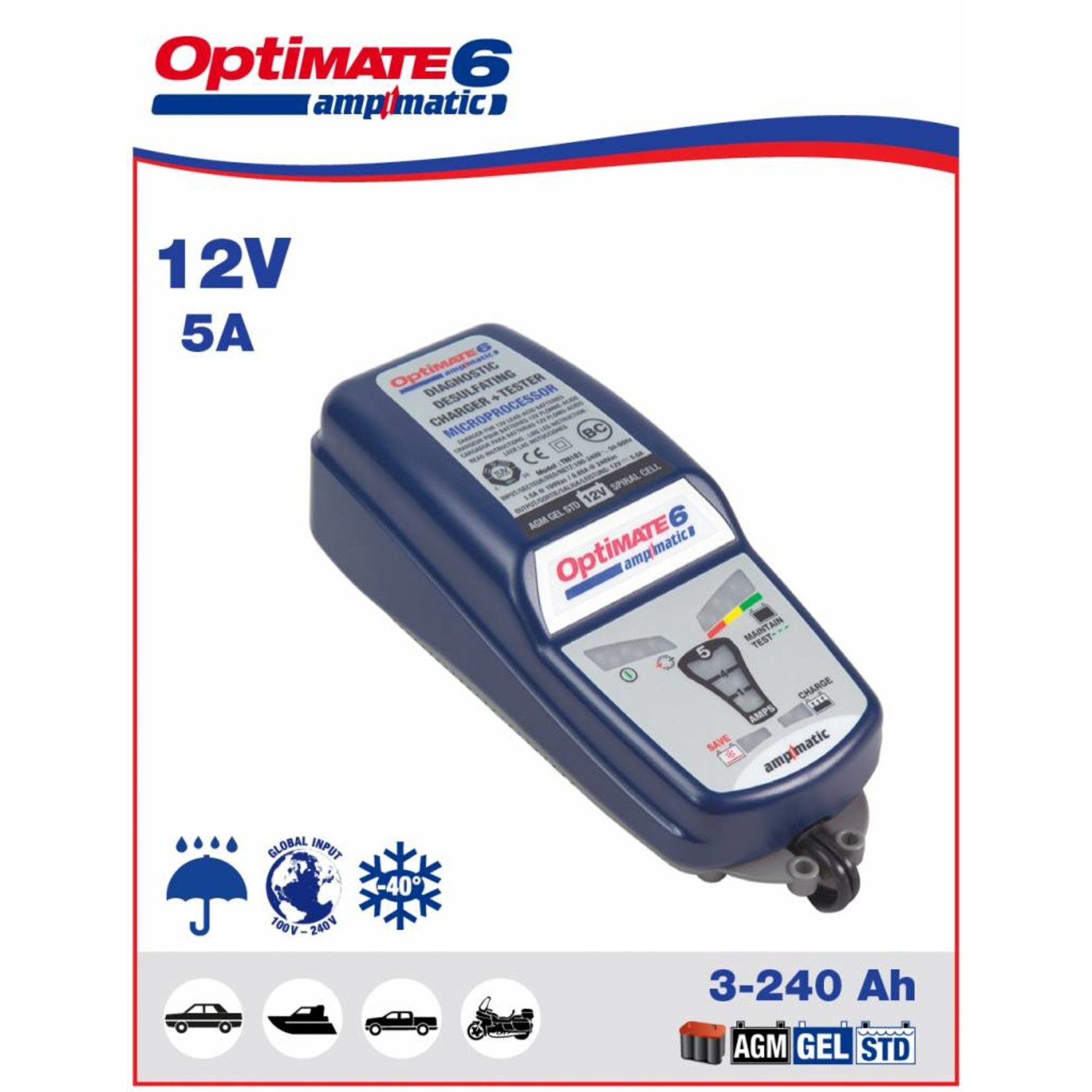 OptiMate OptiMate 6 Ampmatic - Battery Charger 12V