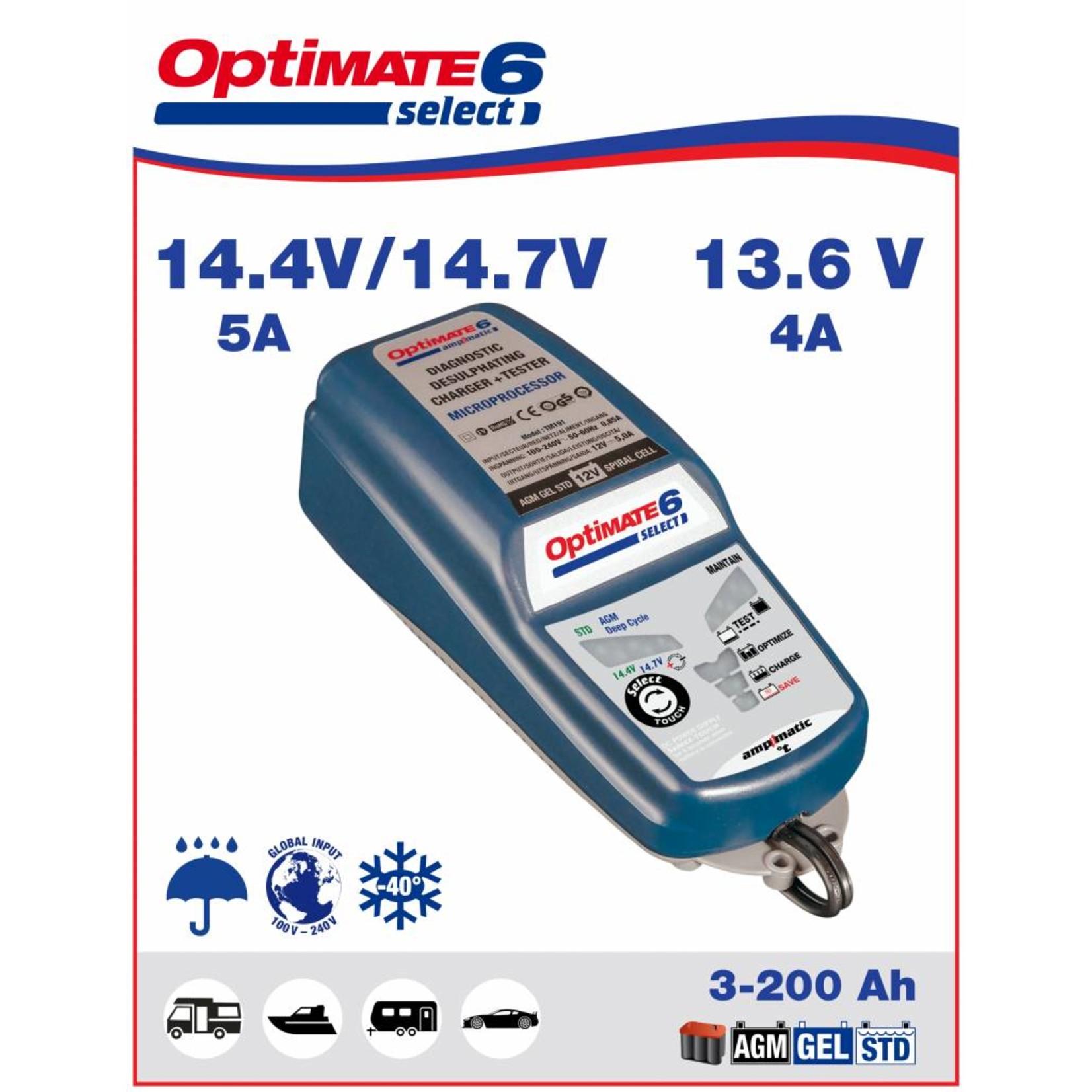 OptiMate OptiMate 6 Select - Battery Charger 12V