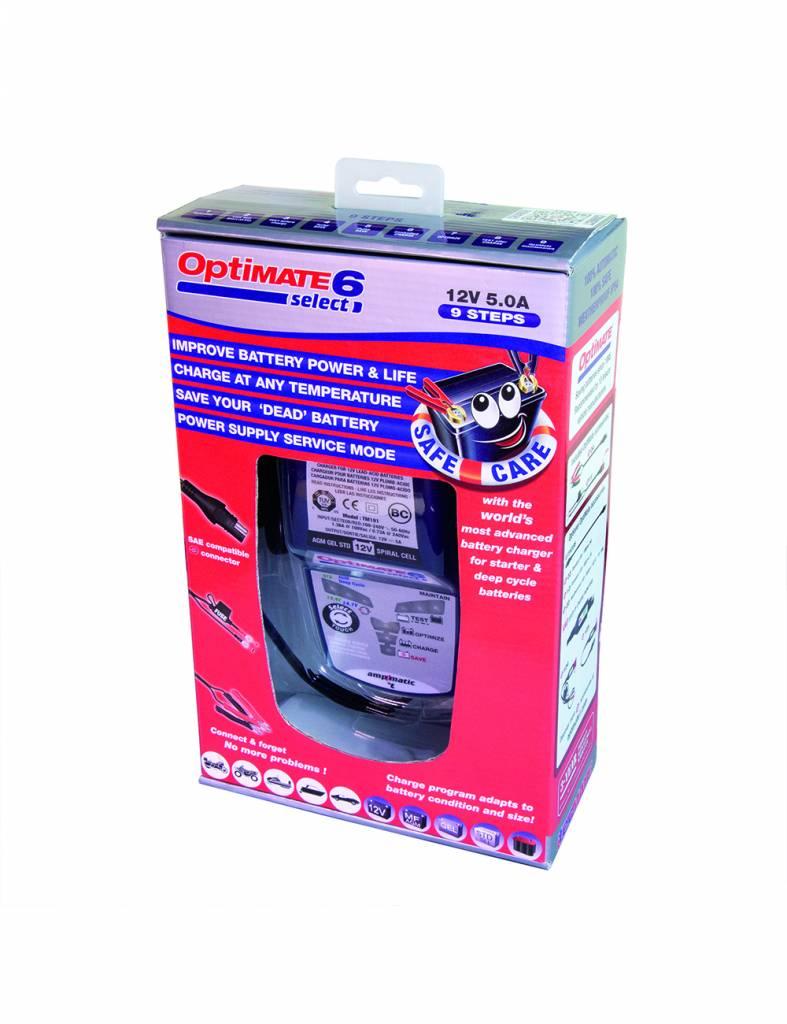 OptiMate 6 Select - Acculader 12V