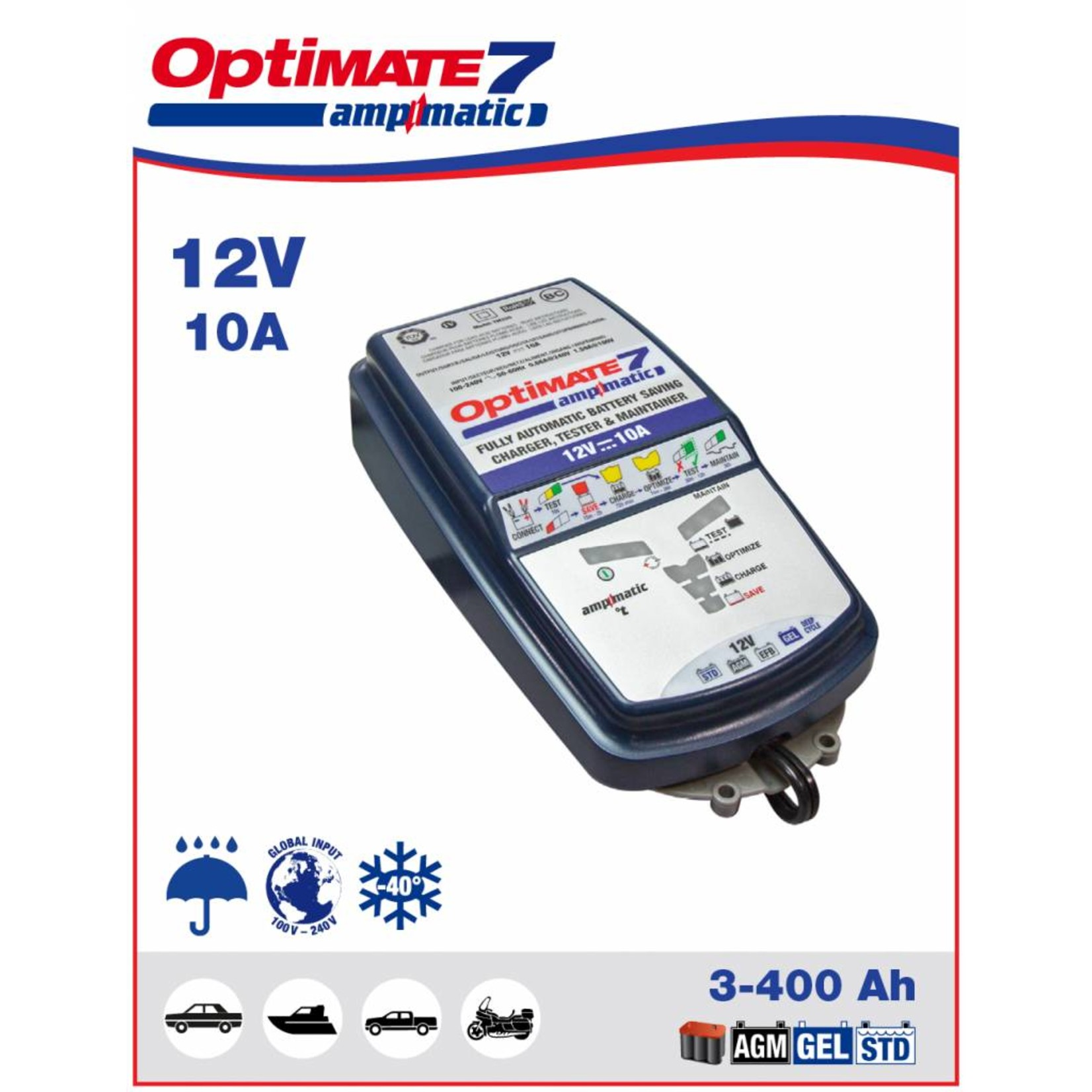 OptiMate OptiMate 7 Ampmatic - Battery Charger 12V
