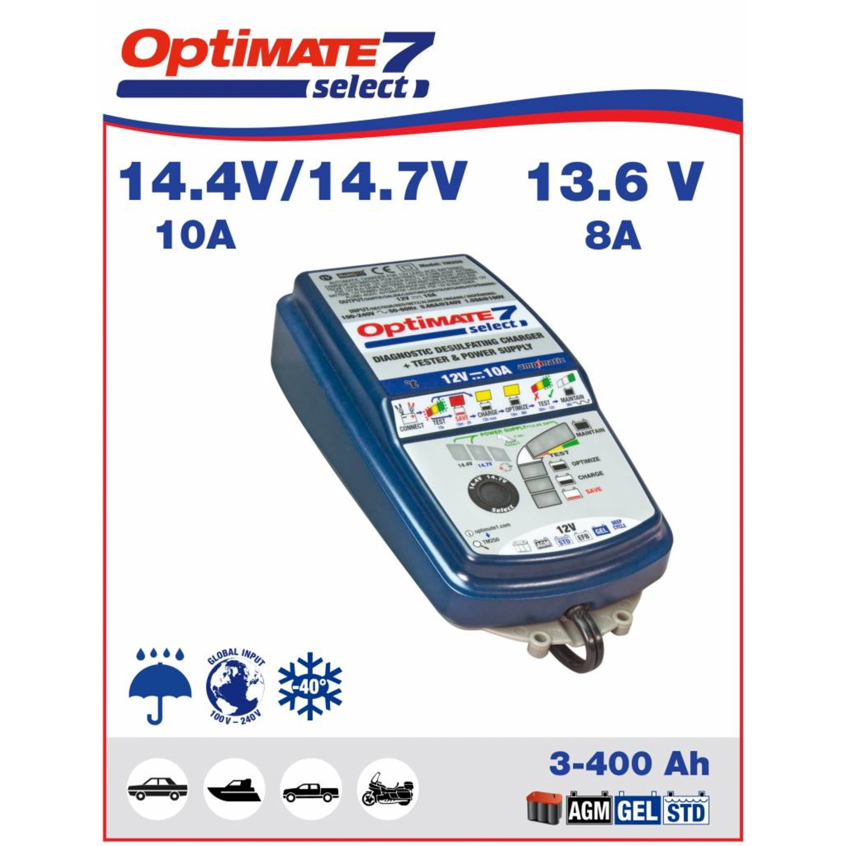 OptiMate OptiMate 7 Select - Acculader 12V