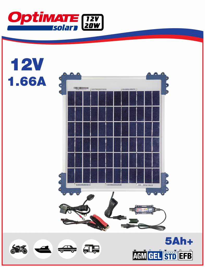 OptiMate Solar 20W - Acculader