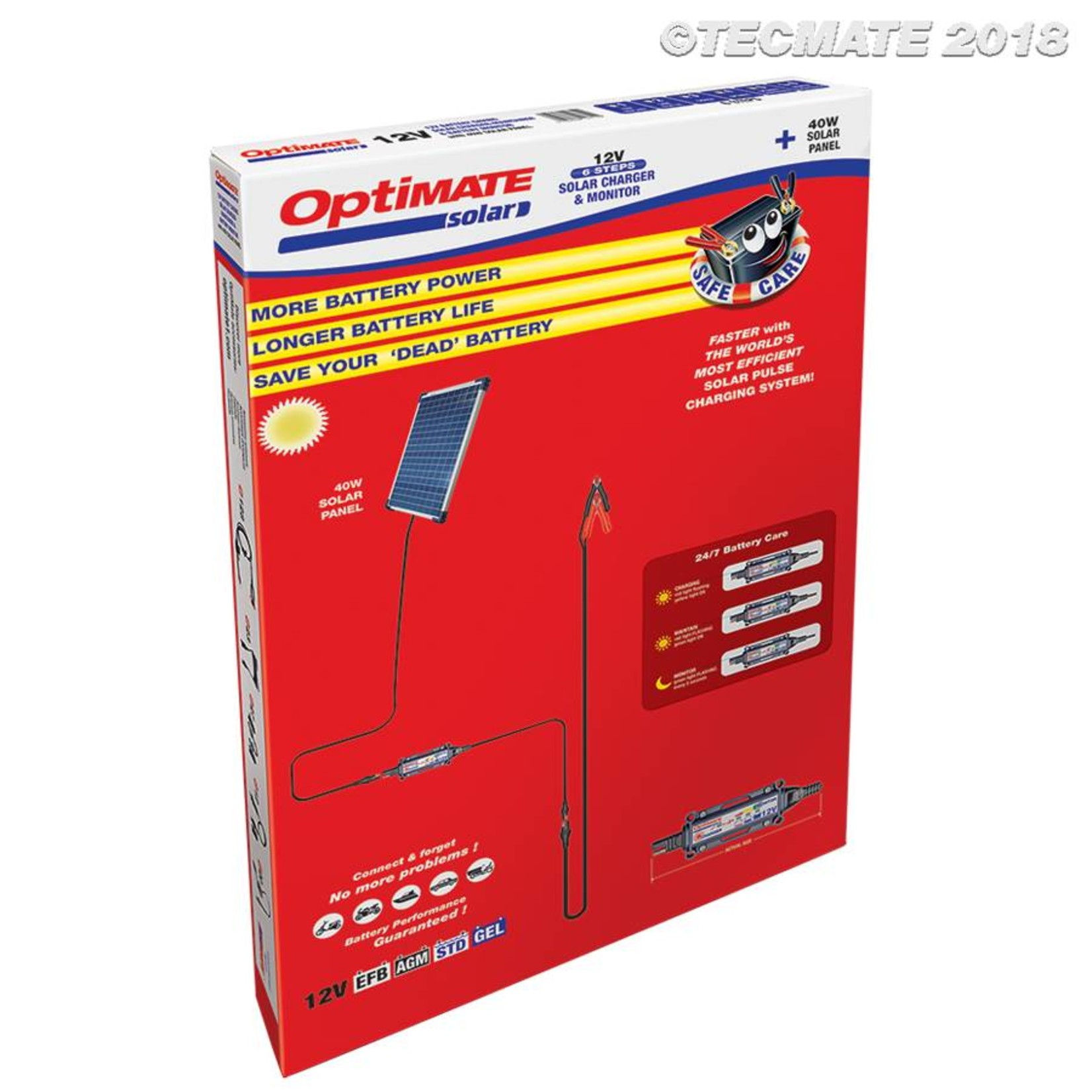 OptiMate Solar 40W - Acculader