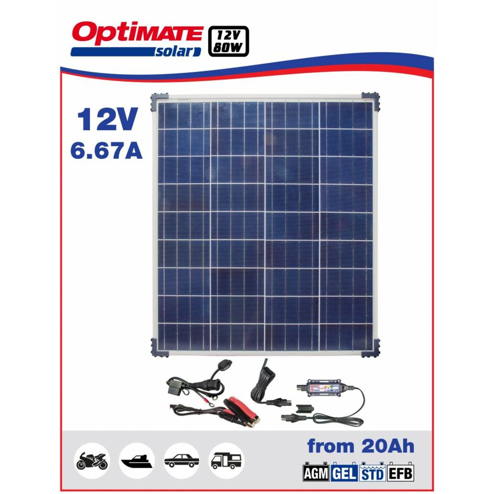 OptiMate Solar 80W - Acculader