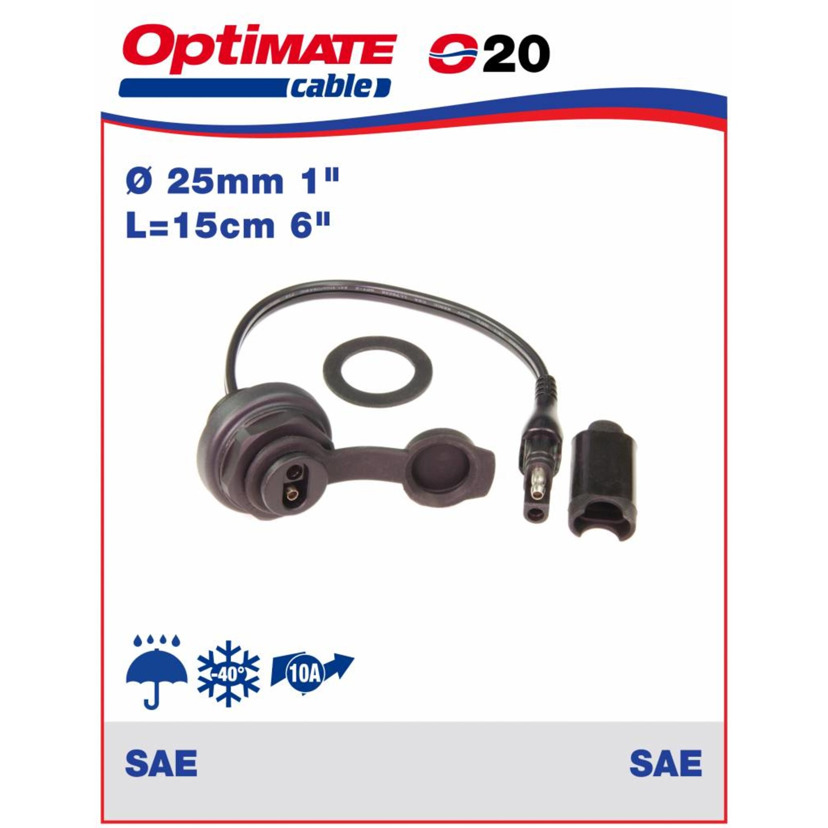 OptiMate OptiMate O-20 Cable connector 10 Amp