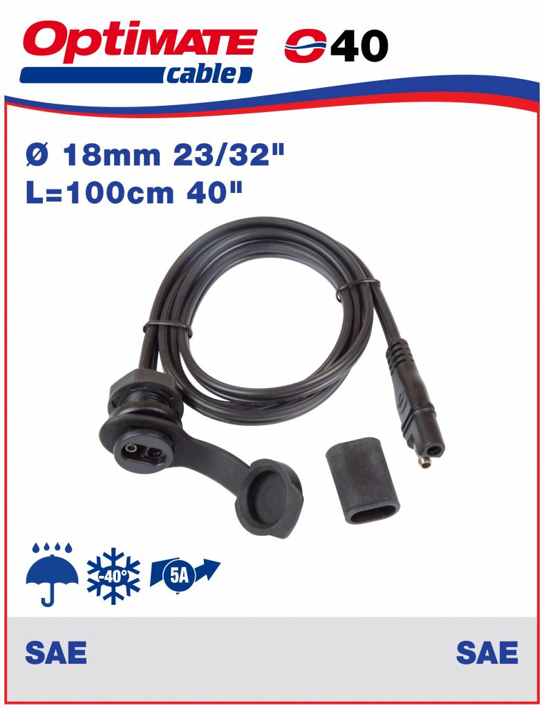 OptiMate O-40 Cable connector 5 Amp