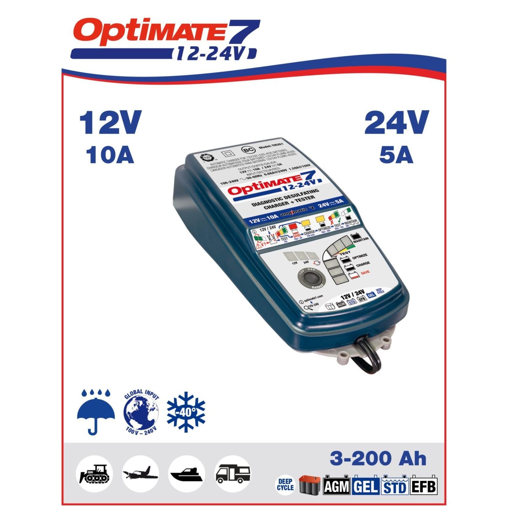 OptiMate OptiMate 7 12V-24V - Battery Charger