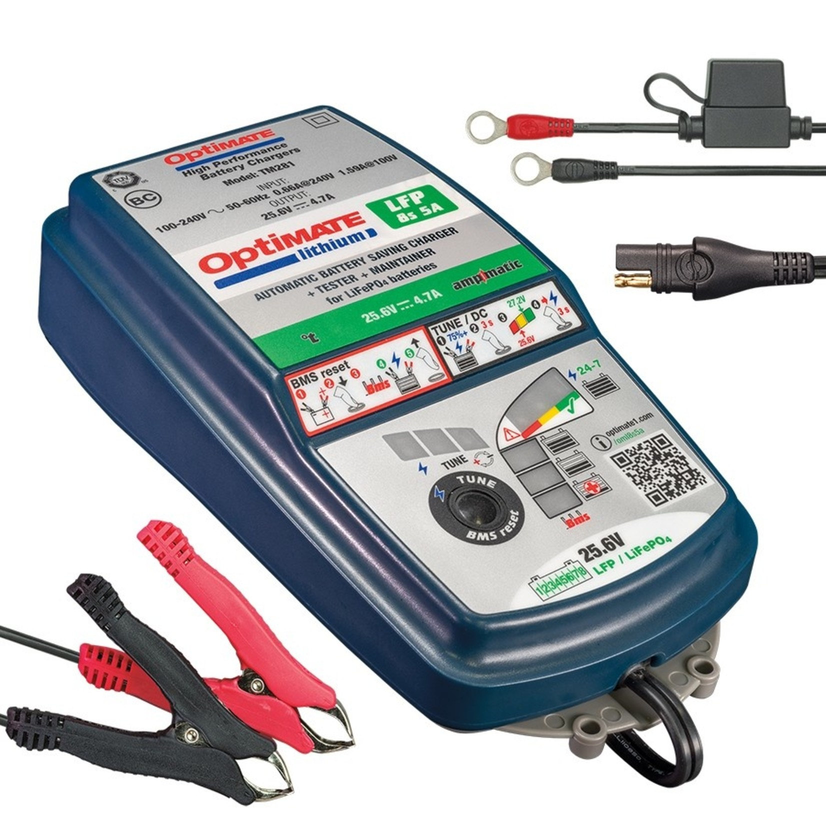 OptiMate OptiMate Lithium 8s 5A - Acculader