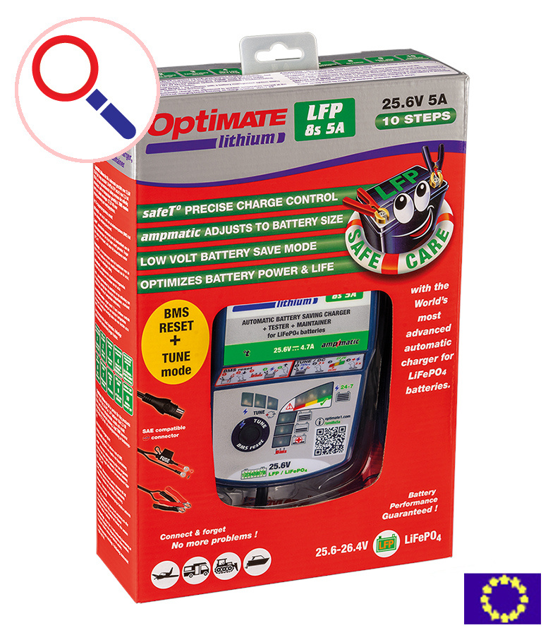 OptiMate Lithium 8s 5A - Acculader