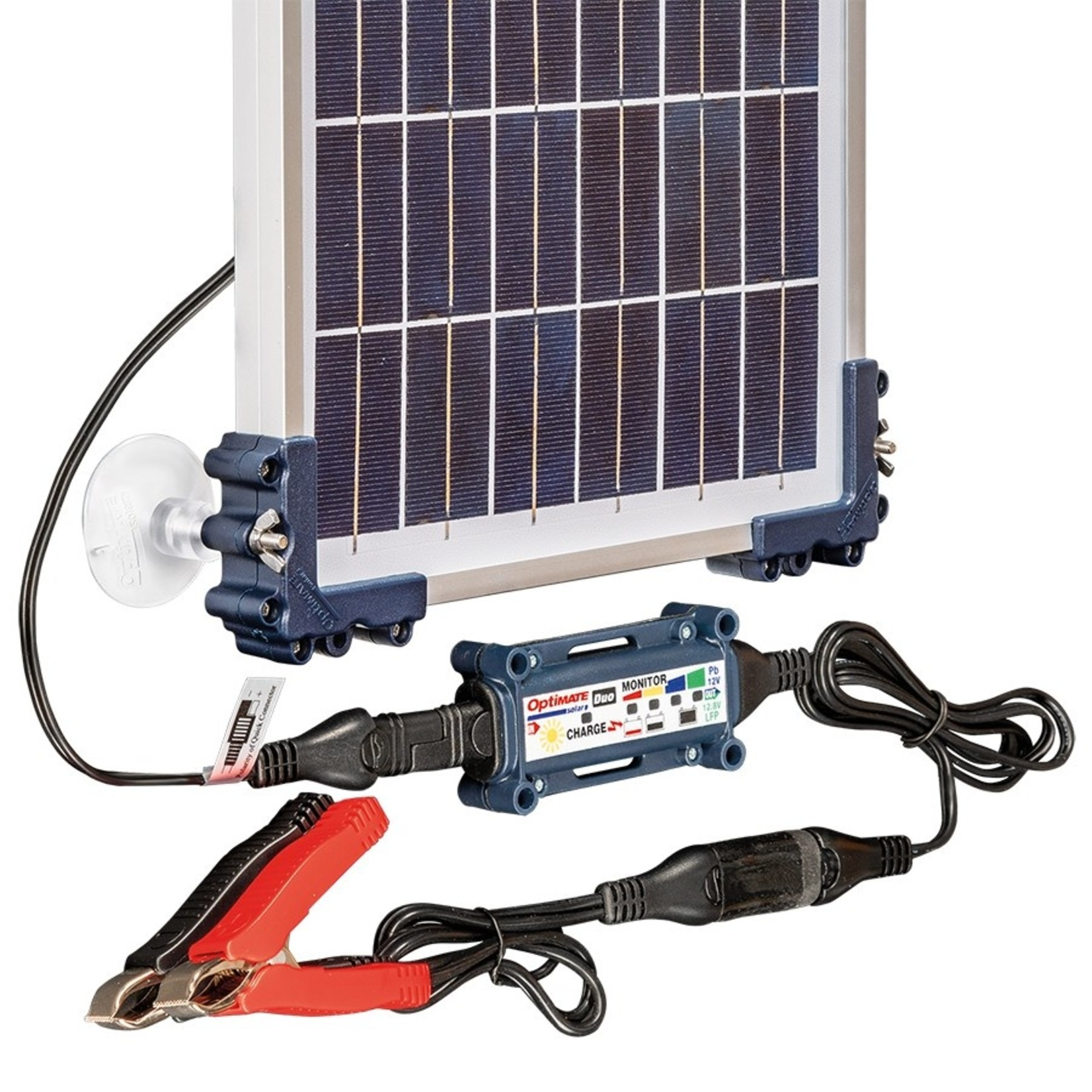 OptiMate DUO Solar 10W - Travel Kit - Acculader