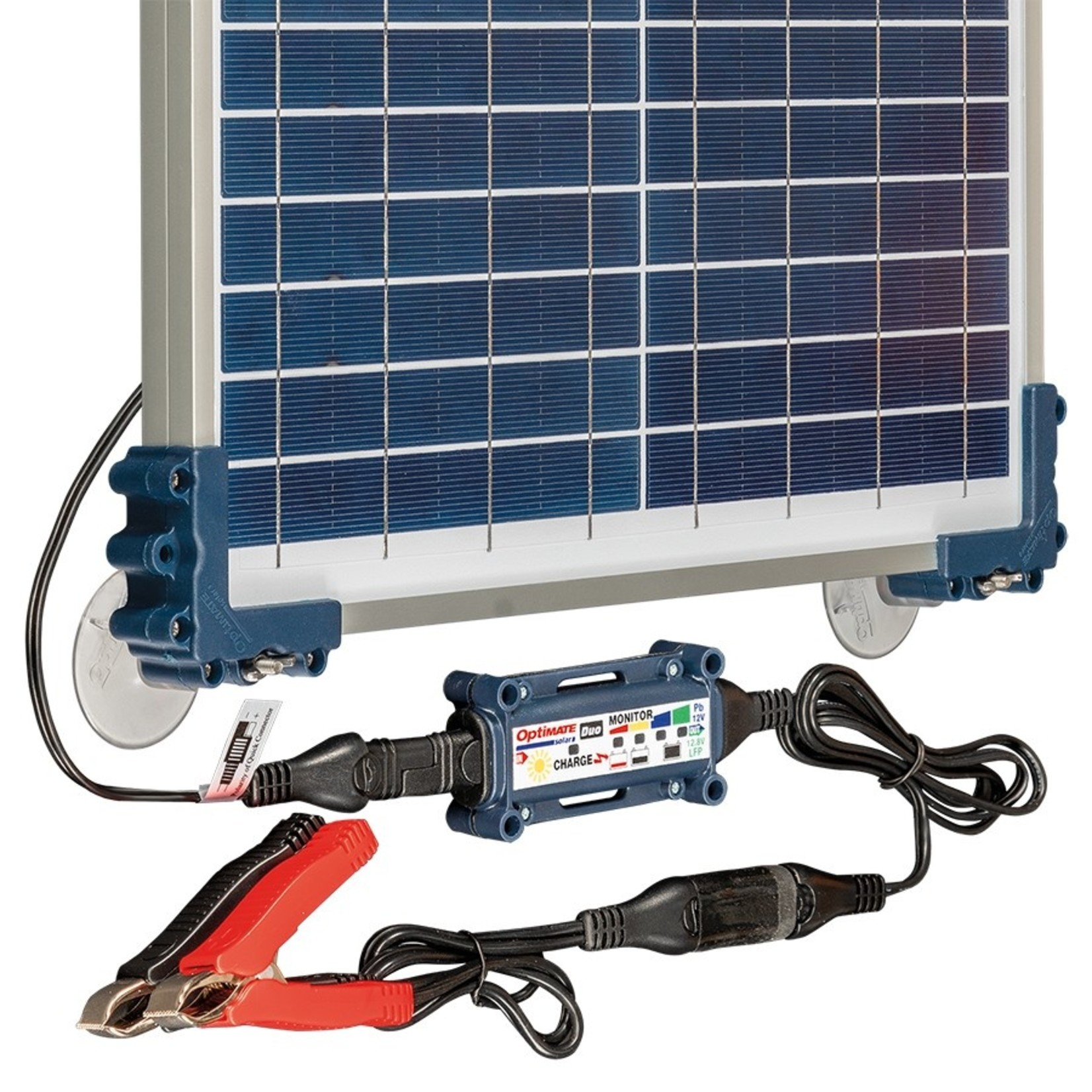 OptiMate DUO Solar 20W - Travel Kit - Acculader