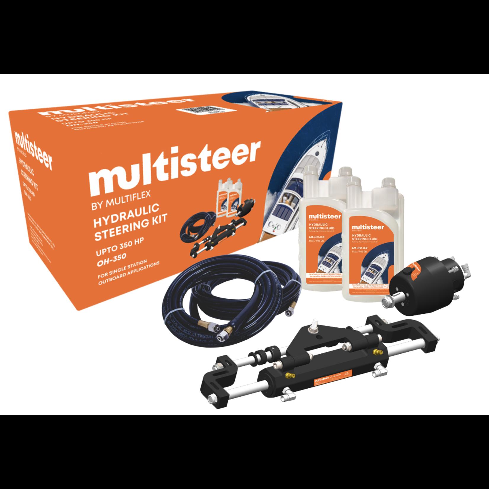 Multiflex Marine  Hydraulic Steering Kit - Single Outboard