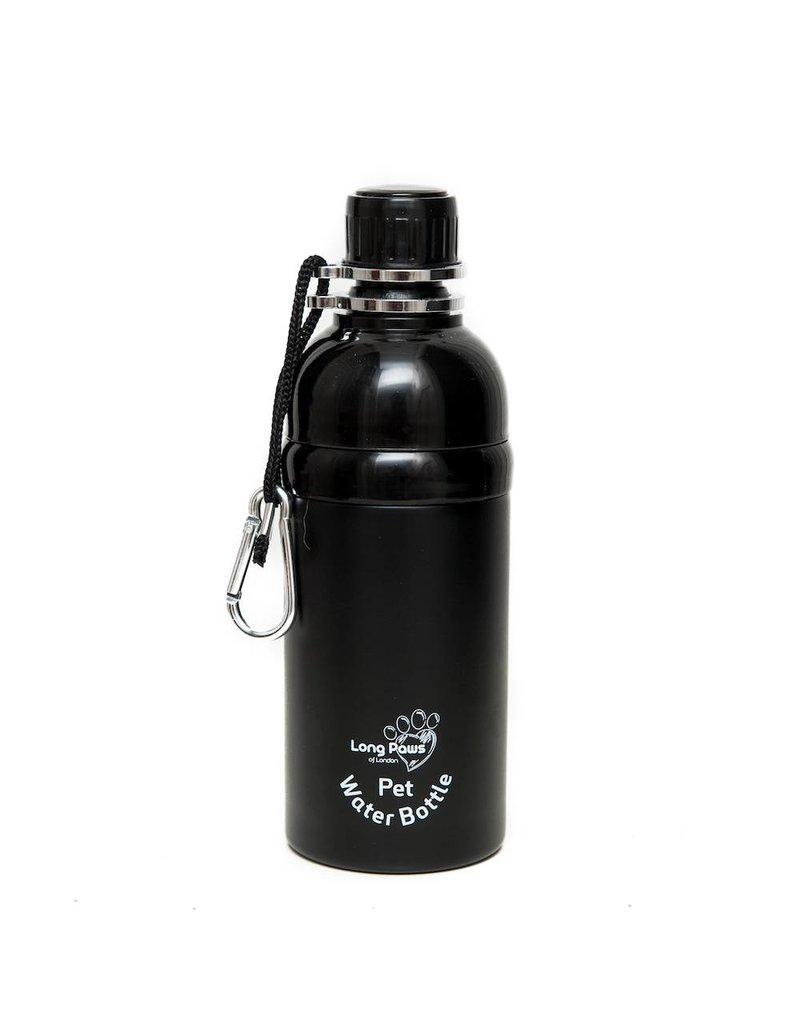Black Long Paws water bottle