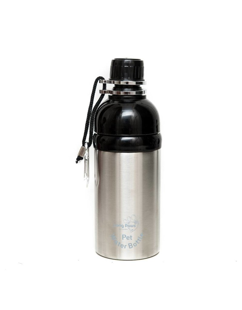 Silver Long Paws water bottle