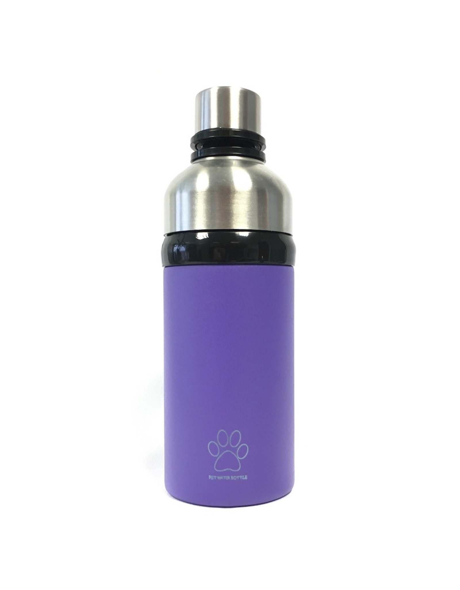 Powder Purple Long Paws water bottle