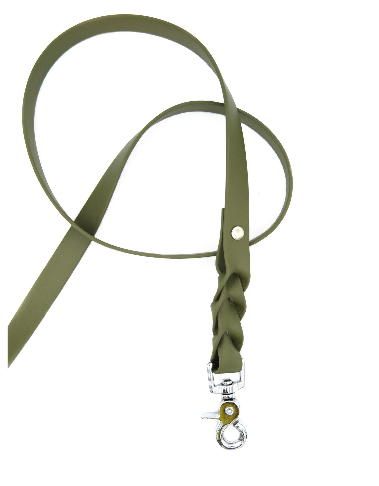 Biothane dog leash Olive
