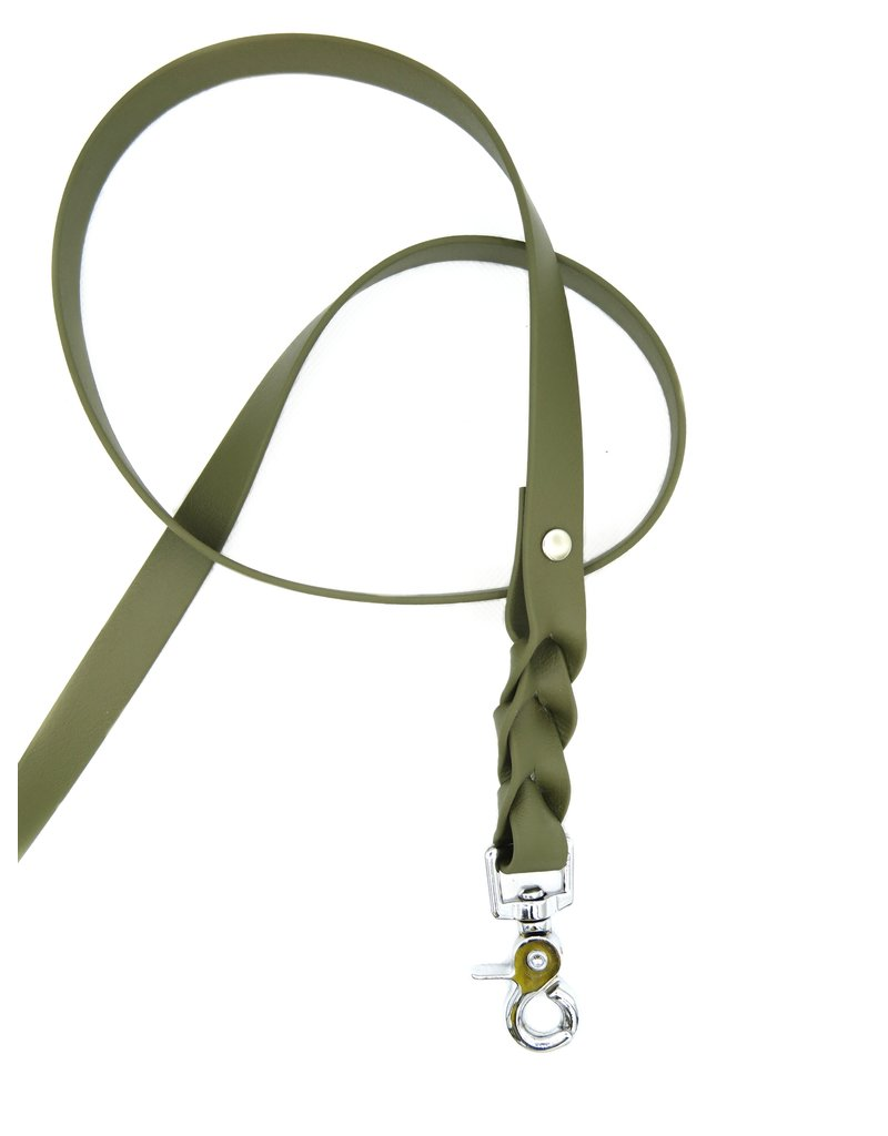 Biothane dog leash Olive