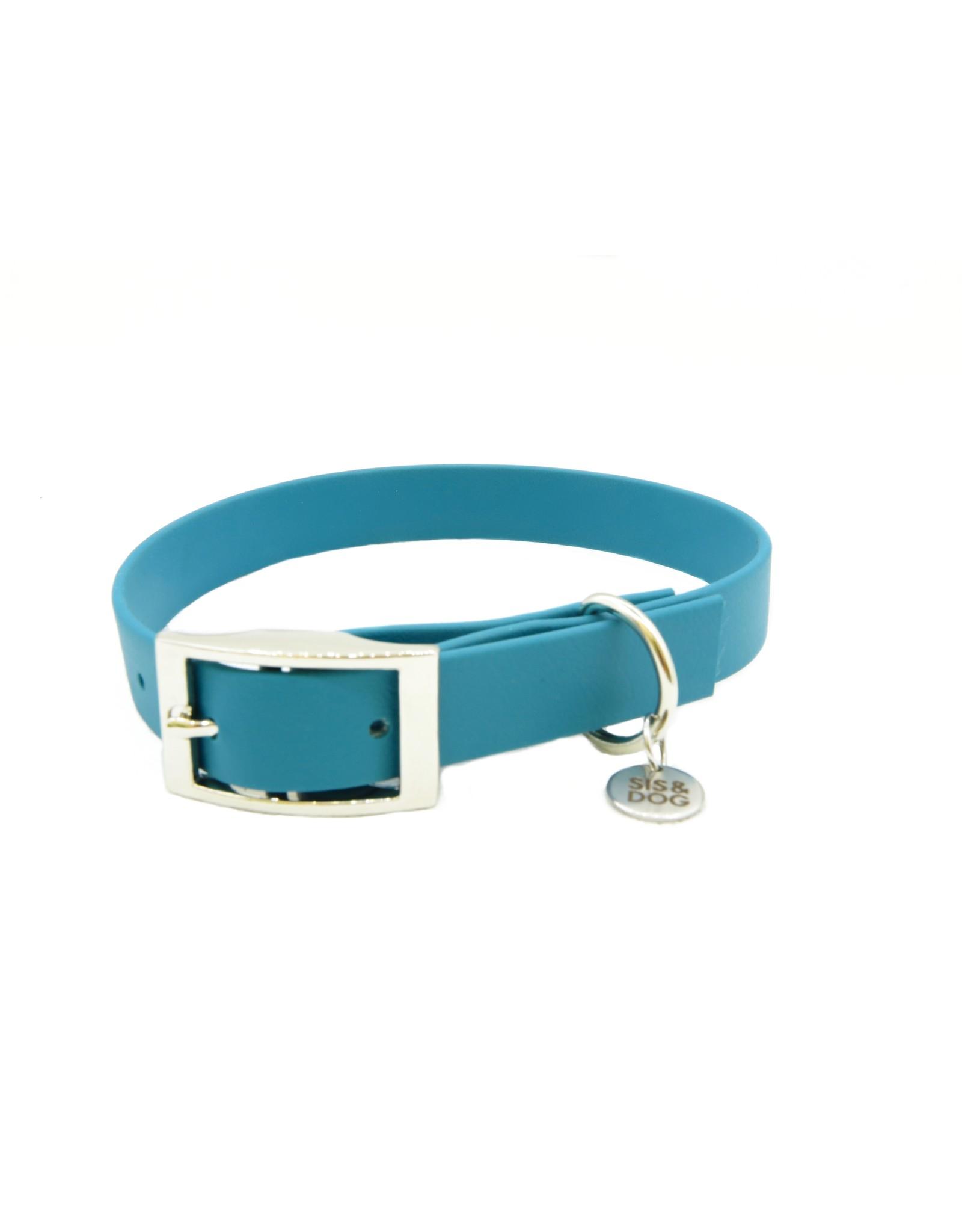 Biothane honden halsband Blue