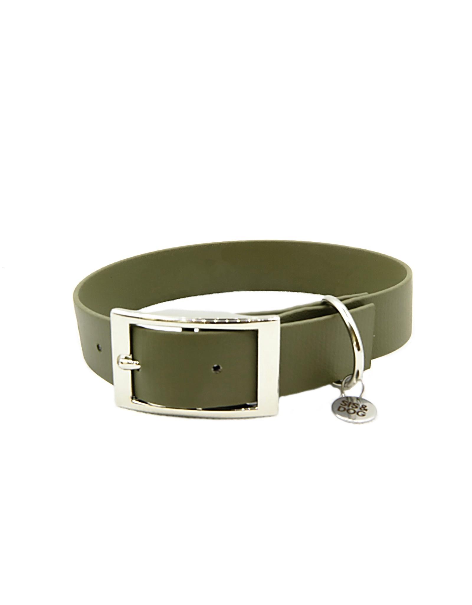 Biothane honden halsband Olive