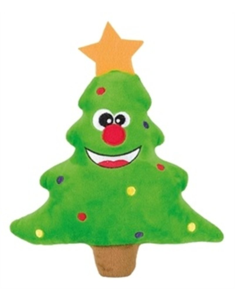 Dog Christmas Stocking Pine Tree Flannel
